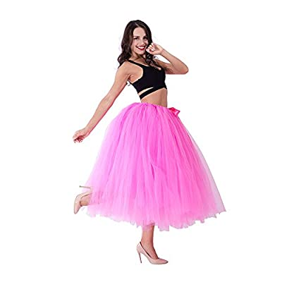 Handmade Women Tutu Tulle Skirt 31.5 Inch Long Maternity Photoshoot Wedding Party Skirts for Pregnancy Photo Prop