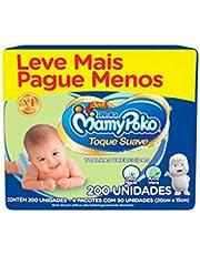 Lenço Infantil Mamypoko Com 200 Toque Suave, MAMYPOKO, Branco, 200 Unidades