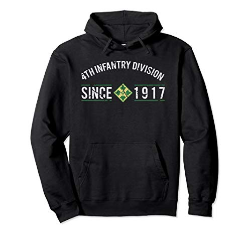 4th Infantry Division Patch Since 1917 Hoodie