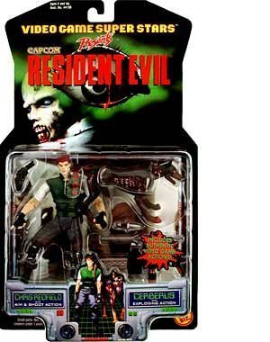 - Resident Evil > Chris Redfield with Cerberus Action Figure by Resident Evil