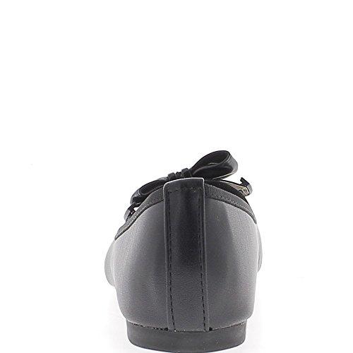 Ballerines noires avec talonnette et noeud drapé