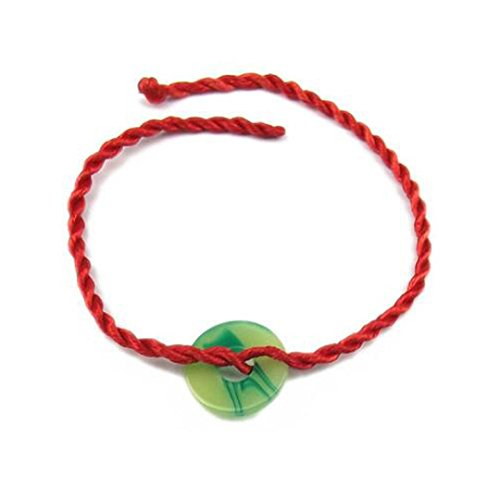XIEXIE China Red Classic Red String Bracelet with Chinese Jade Symbol Propitious , red