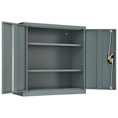 Assembled Wall Storage Cabinet, 30x12x30, Gray Assembled Wall Storage Cabinet