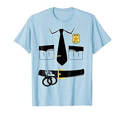 Policeman Halloween Costume Shirt - Police Uniform T-Shirt