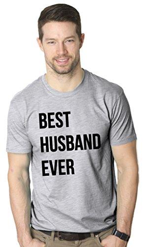 Mens Best Husband Ever Funny Wedding Marriage T shirt (Grey) -XL