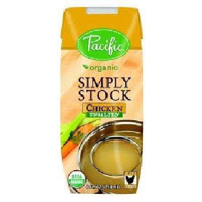 Pacific Natural Foods Organic Unsalted Simply Stock Chicken, 8 oz (Pacific Chicken Stock compare prices)