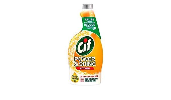 Cif Power and Shine - Botella de repuesto para espray de cocina (550 g): Amazon.es: Salud y cuidado personal