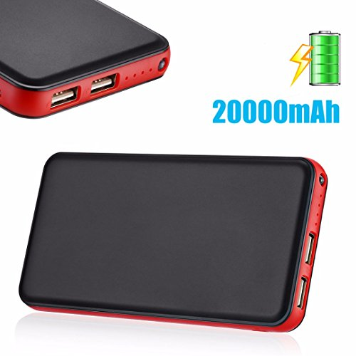 Case Safety 1 x 20000mAh Dual USB Portable Power Bank Battery Charger for Cell phones iPhone Samsung HTC Nokia Blackberry Motorola LG Google LG Nexus Sony/GPS/PSP etc.