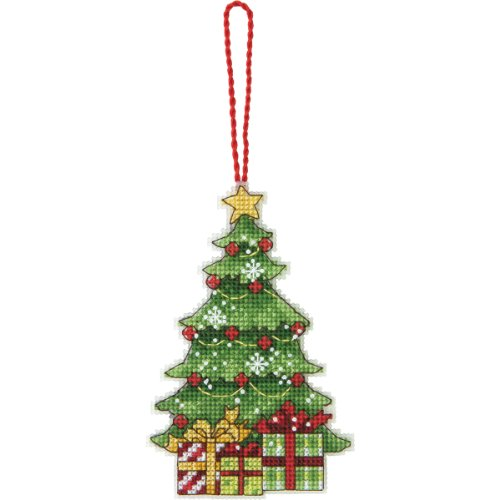 Dimensions Counted Cross Stitch Christmas Tree Ornament Kit, 3'' W x 4.75'' -