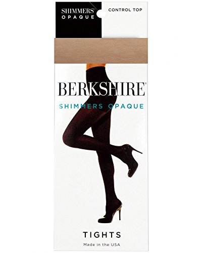 Berkshire Shimmers Semi Sheer Opaque Control Top Tights Color: Natural Tan Size: 3X/4X - Microfiber Plus Size Tights
