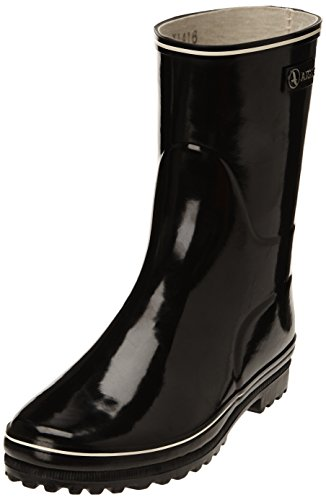 Size Natural Black Shiny Aigle Womens Wellington Rubber Lined Boots 38 qOq8Bv