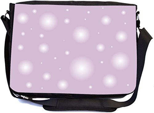 (Rikki Knight Bubblegum Pink Bubbles Design Multifunctional Messenger Bag - School Bag - Laptop Bag - with Padded Insert for School or Work - Includes Matching Compact Mirror)