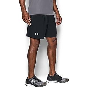 Under Armour Men's Launch 7'' Shorts, Black/Reflective, Medium