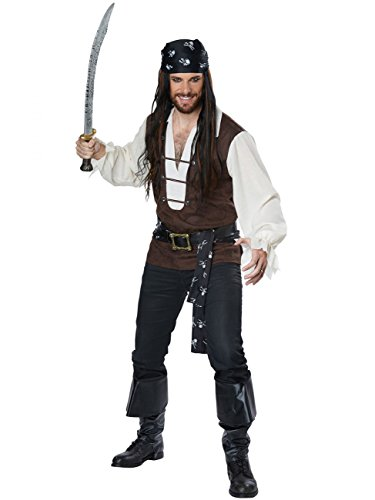 (California Costumes Men's Size High Seas Adventurer Adult Man Plus Costume, Brown/Cream,)