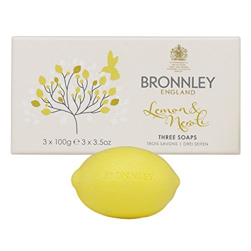 Lemon Bronnley Soap - Bronnley England Lemon & Neroli Soaps for Women, 3.5 Ounce by Bronnley England