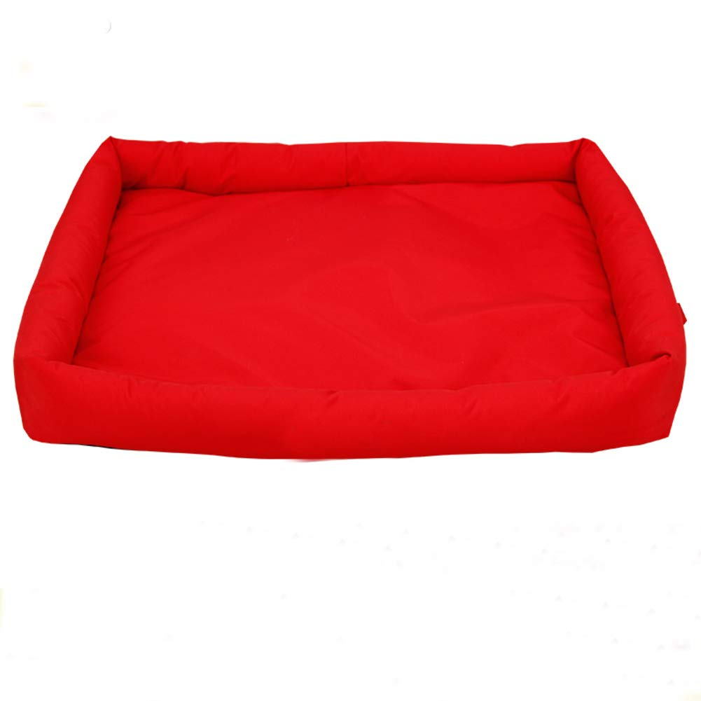 Red M red M GielCof Removable Pet bed,Ultra soft & cozy washable cat dog mat warm pad kennel cushion waterproof non slip base-red M