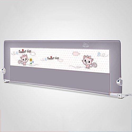 Barrière de lit Grise Extra Haute Les Tout-Petits, Pliable barrière de lit de bébé barrière de lit de bébé barrière incassable Grand Rail (Taille : Length 180cm)