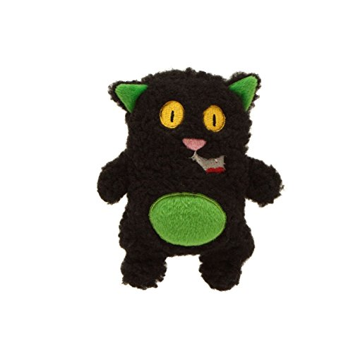 Outward Hound Kyjen  2765 Invincibles Plush Halloween Cat Stuffingless Dog Toys Squeaker Toy 1 Squeaker, Small, -