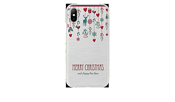 Amazon.com: Year Christmas Case for Fundas iPhone X 6 5 5S ...