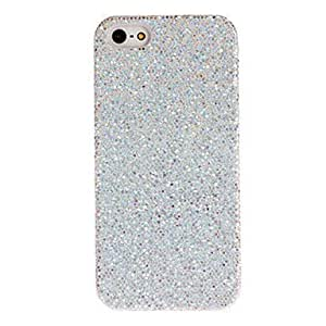 ZLXUSA (TM) Silver Shimmering Powder Designed PC Hard Case for iPhone 5/5S