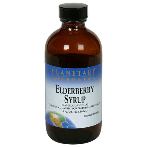 Planetary Herbals sureau sirop, 8 oz (236.56 ml)