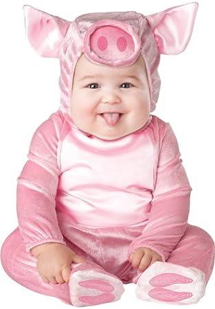 Disfraz cerdito para bebé-Premium 0-6 meses (50-68): Amazon.es ...