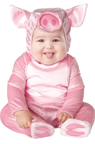 InCharacter Costumes Baby's This Lil' Piggy Costume, Pink, ()