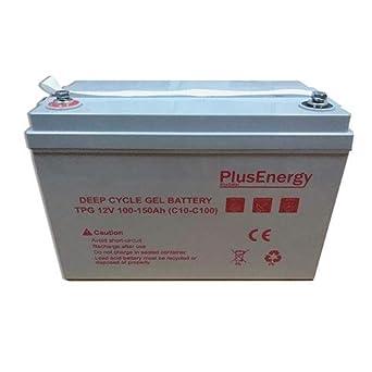 Batería 150Ah solar 12v Ciclo Profundo GEL 150Ah Solar Fotovoltaica con terminales