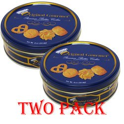 Original Gourmet Danish Style Premium Butter Cookies Tin (2 Pack)