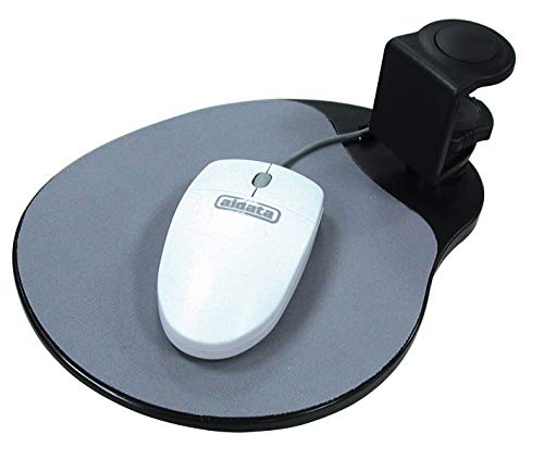 Aidata UM003B Mouse Platform Under Desk, Sturdy Metal Clamp Fits Onto Desks Up To 40mm/1.57