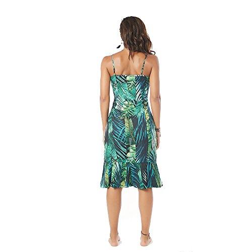 Ruffles Garden Beauty Dresses Strap Summer Print Women Bohemia ztxAfqw