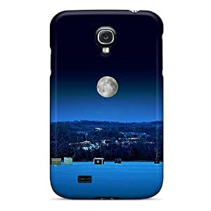 Cute Tpu 6Plus Ice Fishing At Night Case Cover For Galaxy S4