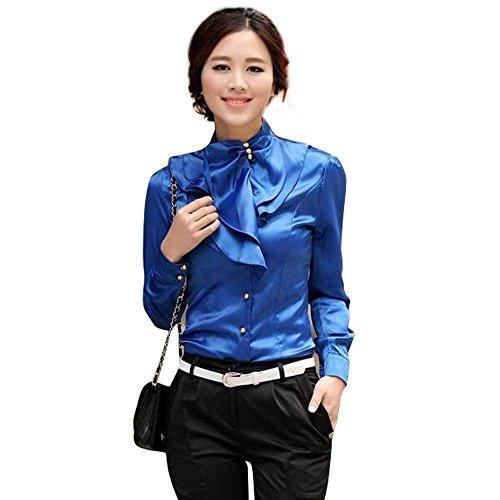 Ruffle Stand Collar Shirt - 5