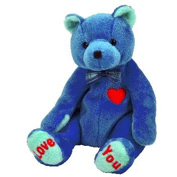 daa1b076b06 Image Unavailable. Image not available for. Color  TY Beanie Baby - DAD-e  the Bear (Internet Exclusive)