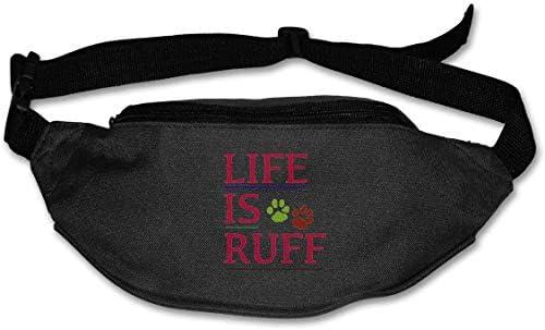 Life Is Ruffユニセックスアウトドアファニーパックバッグベルトバッグスポーツウエストパック