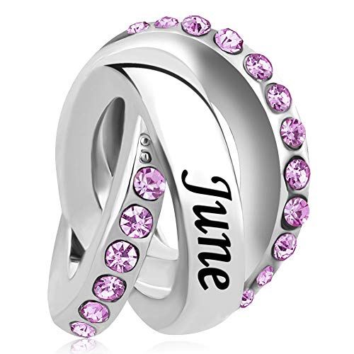 Casa De Novia Jewelry Wedding Day Charm Jun Birthstone Bead fit European Bracelets&Necklaces