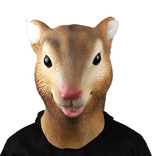 ifkoo Squirrel Mask Full Head Animal Mask Halloween Latex Head