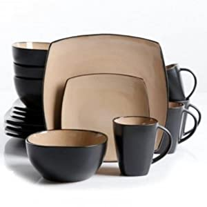 Gibson Soho Lounge Taupe 16-Piece Dinnerware Set : Each piece is very nice and I've gotten a lot of complements from guests