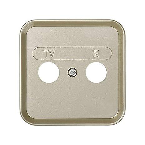 6553131118 31053-61 placa con marco toma r-tv s-31 marfil Ref Simon