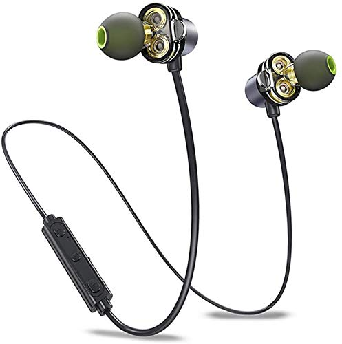 iGRiD IG-8202 in-Ear Magic Wireless Bluetooth Earphones with Mic – Sweat Proof and Long Battery Life Flexible Neckband Headphones with High Bass (Black)