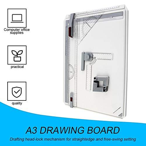fghdf Tabla A3 tablero de dibujo con movimiento paralelo /ángulo ajustable Herramientas de dibujo arte