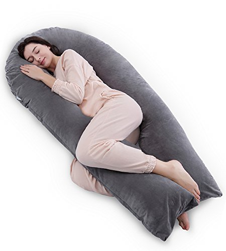Extra Soft C Shaped Full Body Support BP NUVU BABY Full Body Pregnancy Pillow
