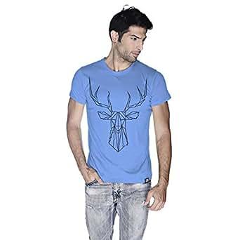 Creo Deer Animal T-Shirt For Men - S, Blue