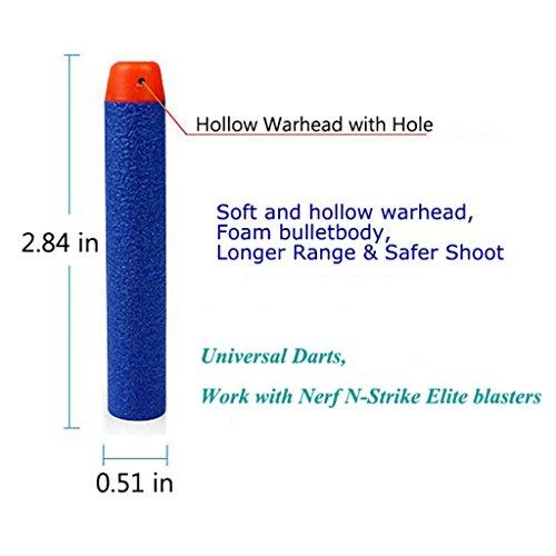 AMOSTING Refill Darts 400PCS Bullet for Nerf N-Strike Elite Zombie Strike Rebelle - Blue