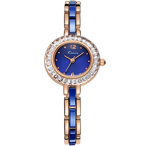 Blue Dial Jewelry (Tidoo Watches Noble Lady Series Womens Luxury Dress Bracelet Wrist Watch Japaneses Miyota 2035 Quartz Movement Water Resistant Staintless Steel Rose Gold Plated Case Band Analog Display Blue Dial Luxury)