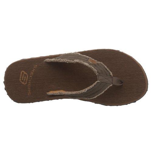 Skechers Thong Tantrisk Sandaler Sjokolade Fray Menns 6Bq6a