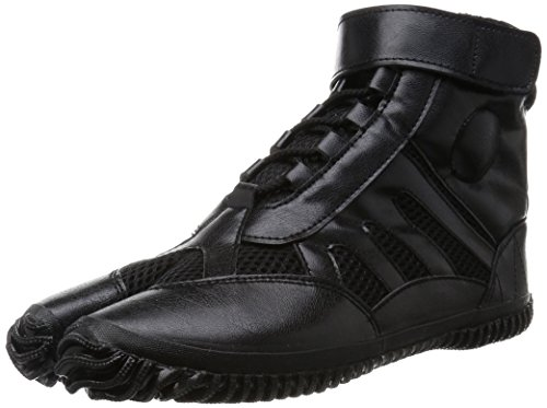 Marugo Tabi Boots Ninja Shoes Jikatabi (Outdoor tabi) Sports Jog Size 25.5 cm (US Size 7.5) Black]()
