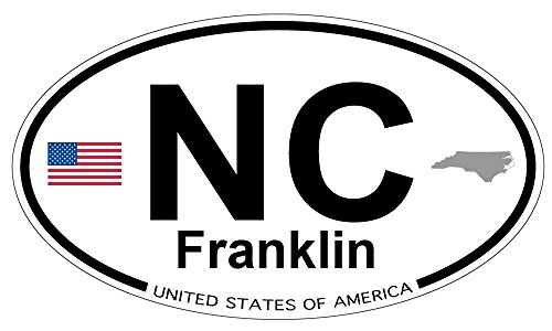 Franklin, North Carolina Oval Magnet