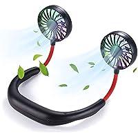 VIDEN Ventilador Personal Portátil, Mini Ventilador Micro USB de Cuello Mano Libre Recargable…