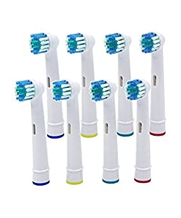 8 brossettes Uctop Store - Brossettes de rechange universelles pour brosse à dents électrique - Pour Braun Oral B SB-17- À poils souples